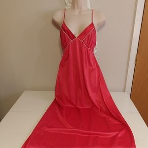 Vintage 70s sexy red negligee nightgown